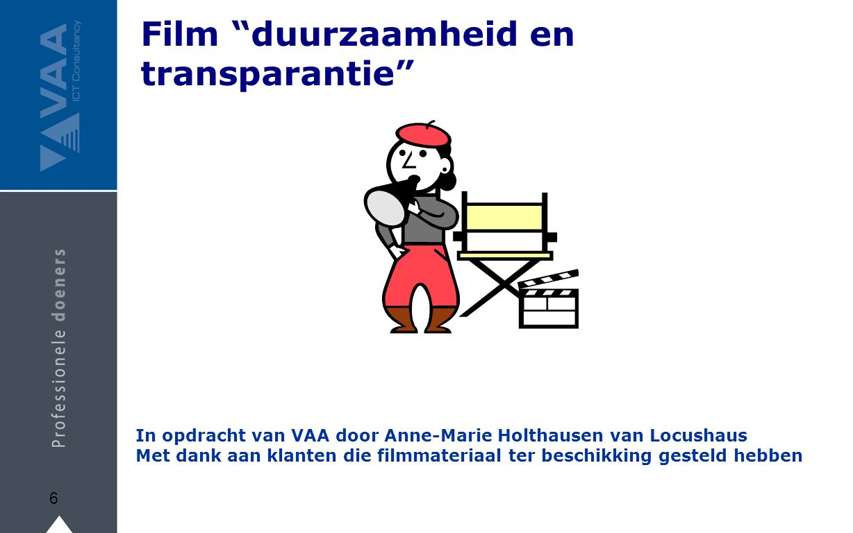 Film duurzaamheid en transparantie