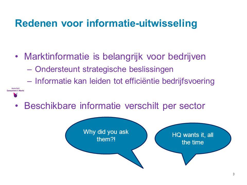 Redenen voor informatie-uitwisseling