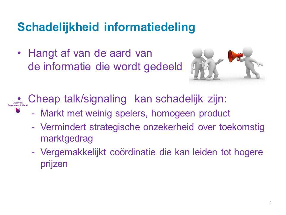 Schadelijkheid informatiedeling