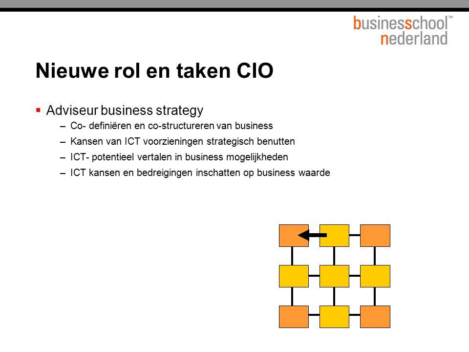 Nieuwe rol en taken CIO Adviseur business strategy