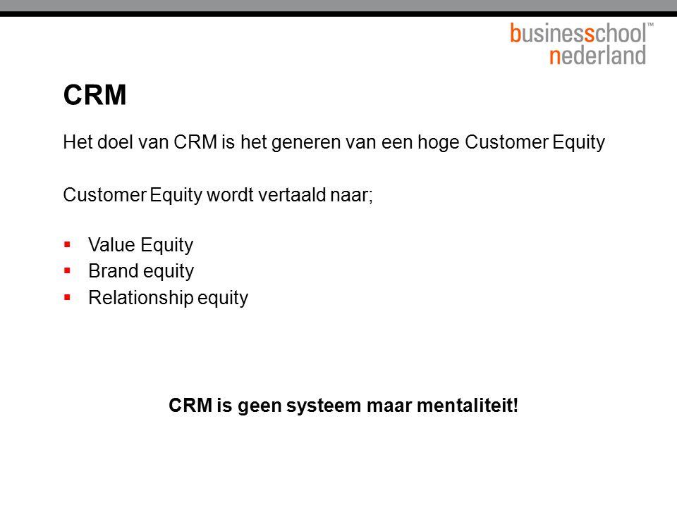 CRM is geen systeem maar mentaliteit!