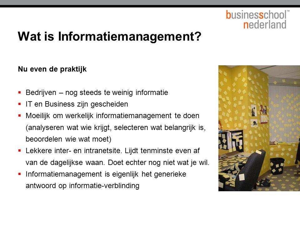 Wat is Informatiemanagement
