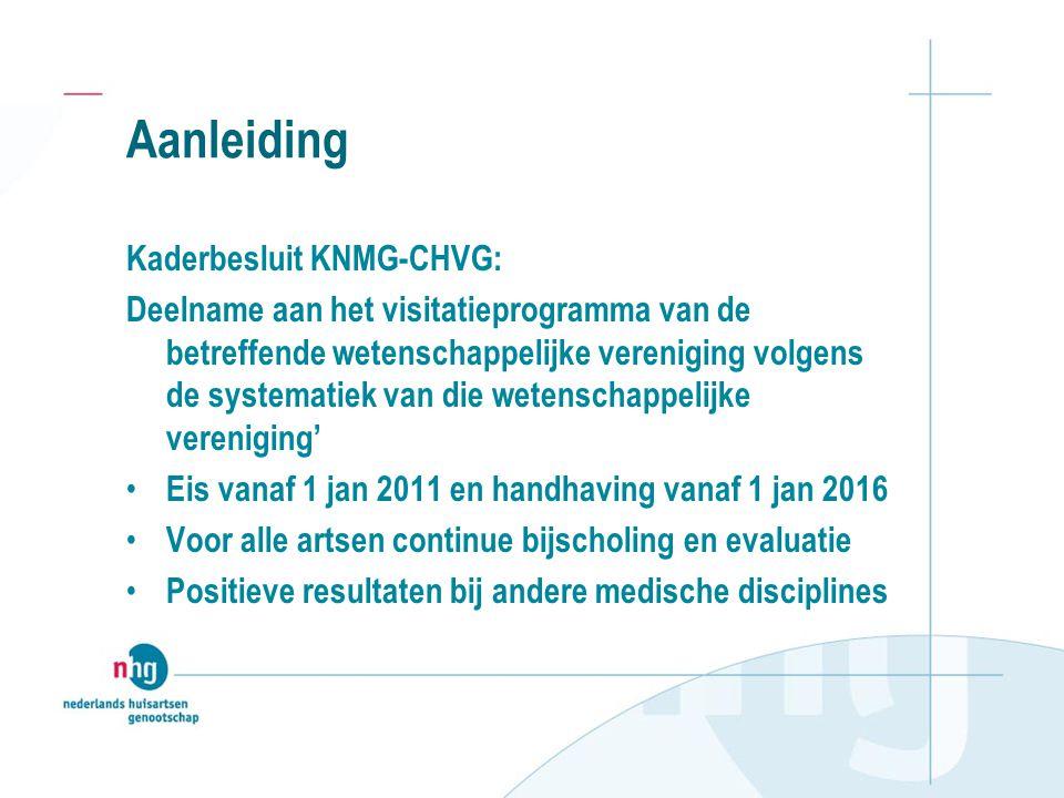 Aanleiding Kaderbesluit KNMG-CHVG: