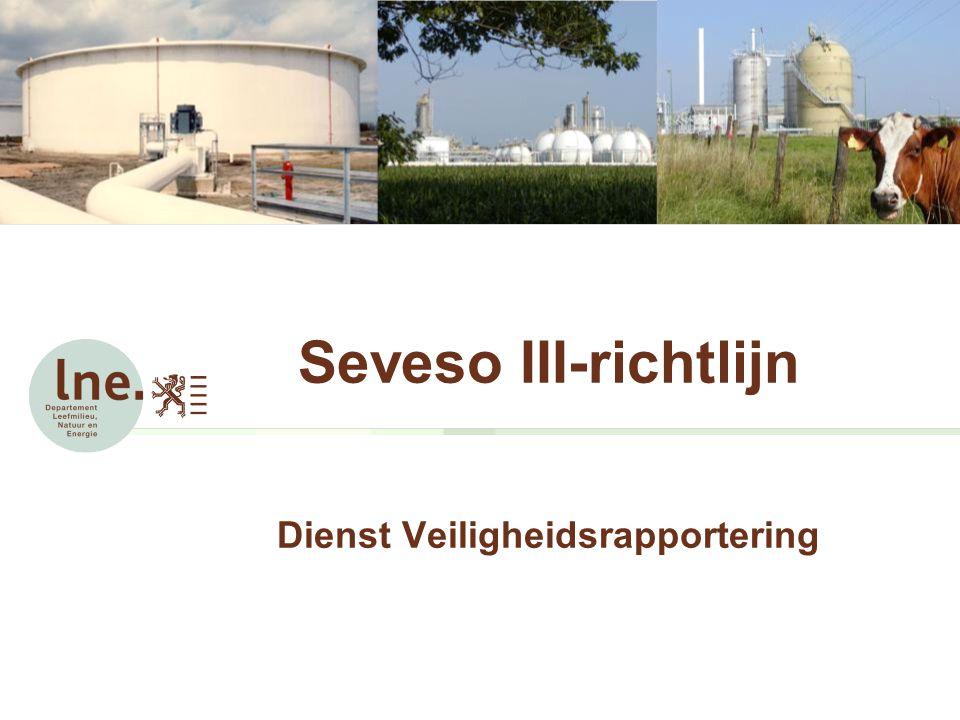 Seveso III-richtlijn Dienst Veiligheidsrapportering