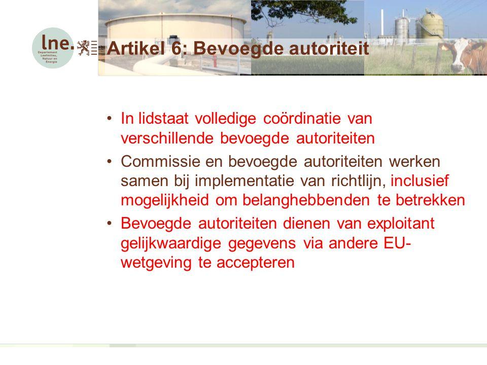 Artikel 6: Bevoegde autoriteit