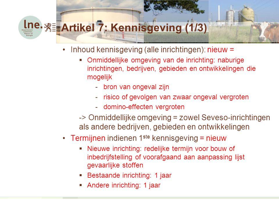 Artikel 7: Kennisgeving (1/3)