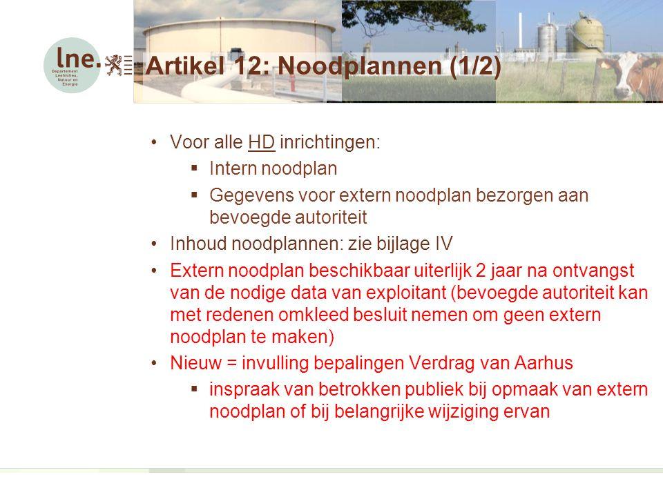 Artikel 12: Noodplannen (1/2)