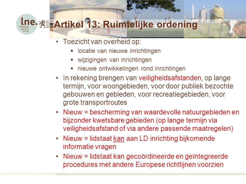 Artikel 13: Ruimtelijke ordening