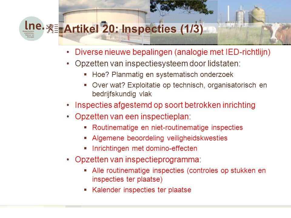 Artikel 20: Inspecties (1/3)