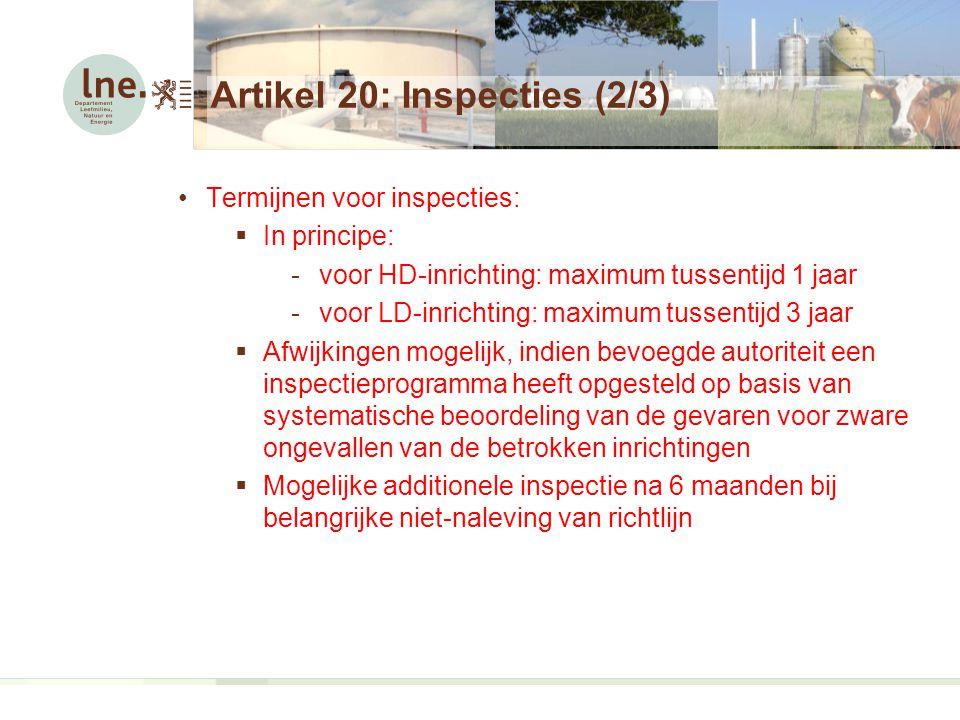Artikel 20: Inspecties (2/3)