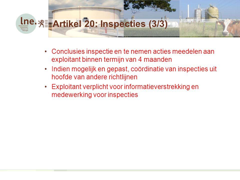 Artikel 20: Inspecties (3/3)