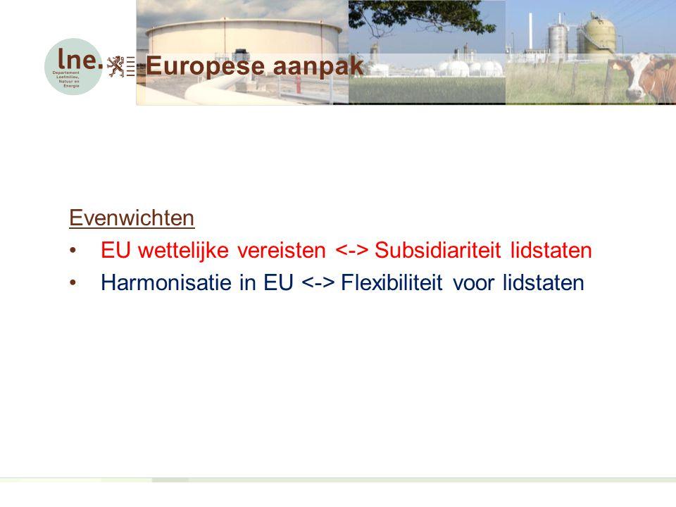 Europese aanpak Evenwichten