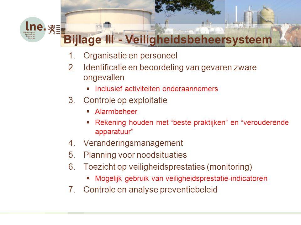 Bijlage III - Veiligheidsbeheersysteem