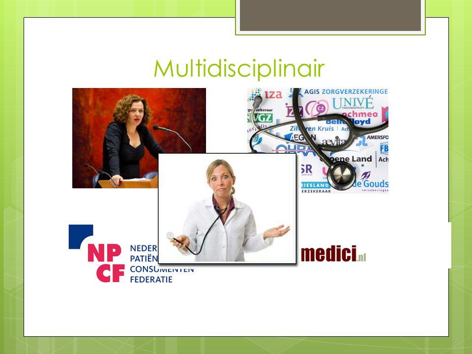 Multidisciplinair Hoe hiermee om tegaan
