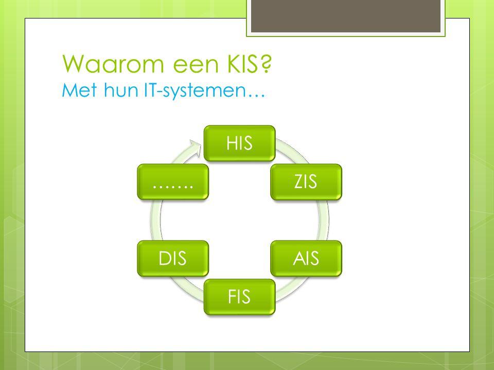Waarom een KIS Met hun IT-systemen…