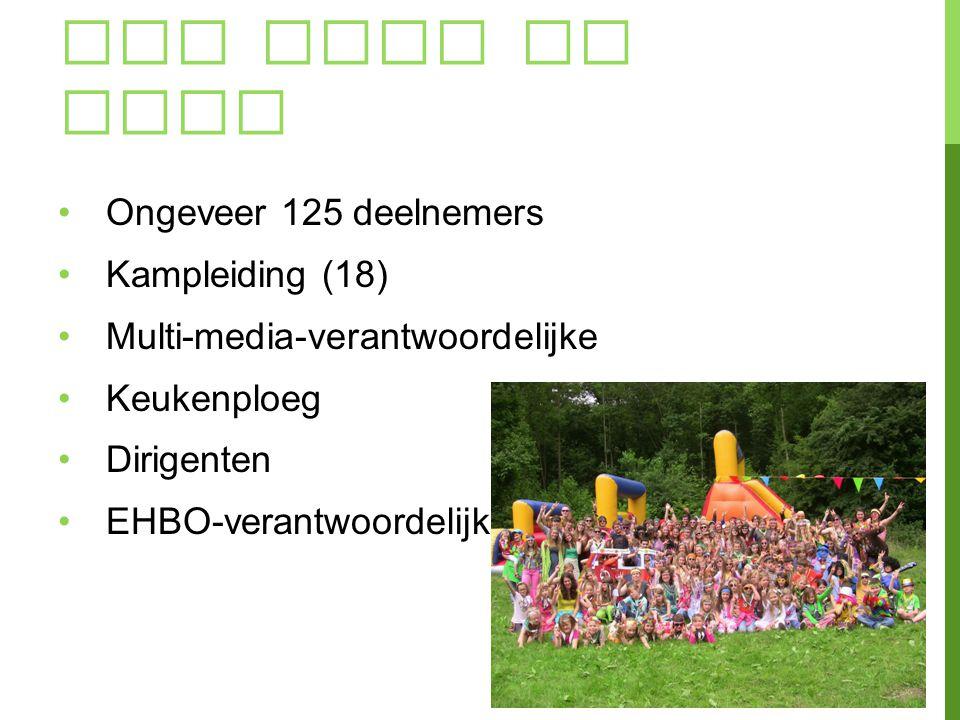 Wie gaat er mee Ongeveer 125 deelnemers Kampleiding (18)