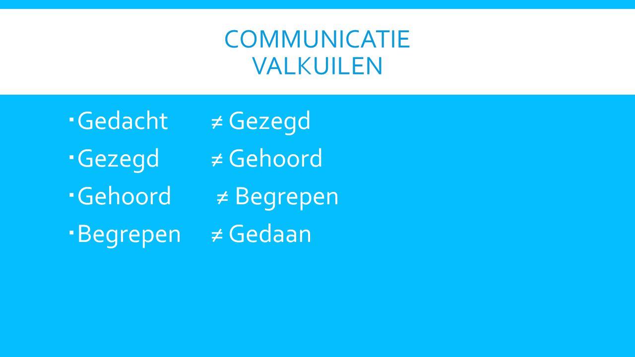 Communicatie valkuilen