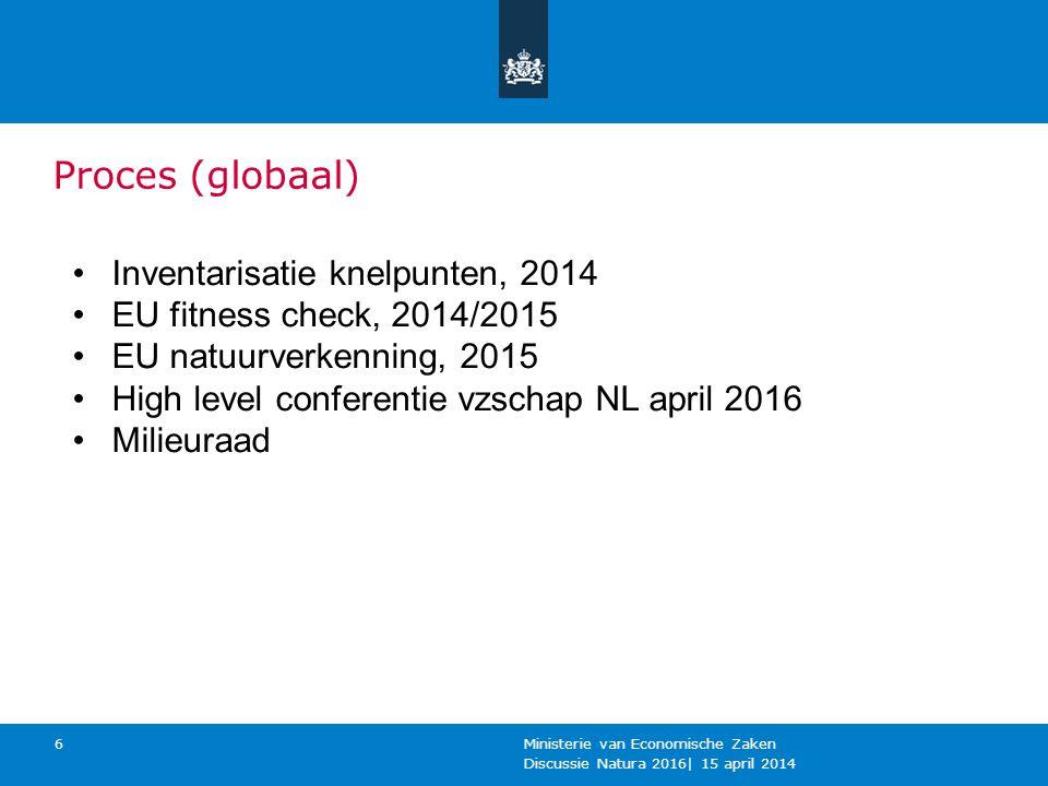 Proces (globaal) Inventarisatie knelpunten, 2014