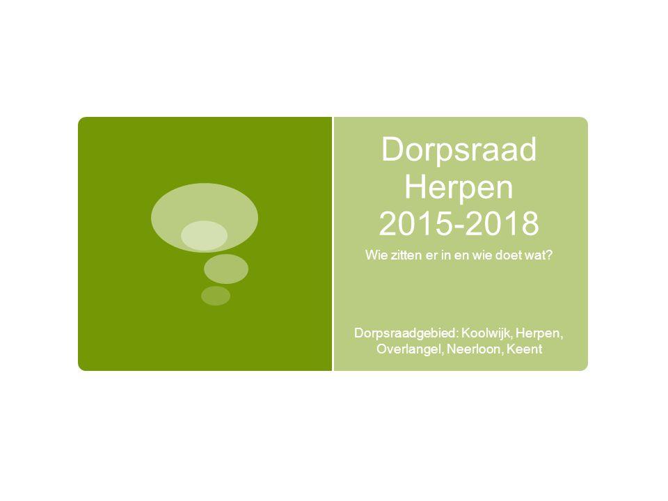 Dorpsraad Herpen 2015-2018 Wie zitten er in en wie doet wat