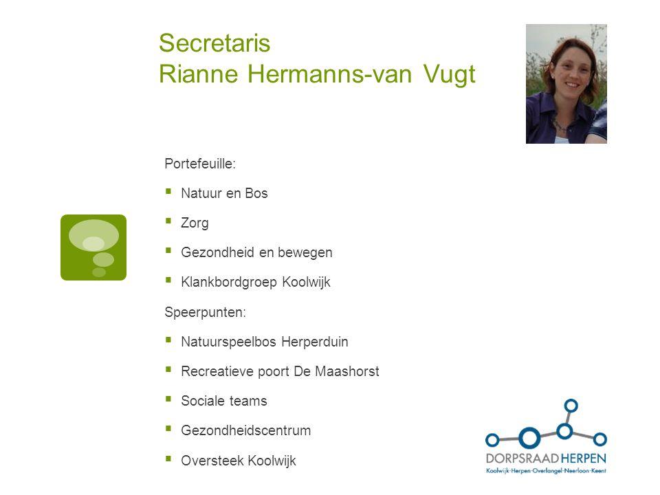 Secretaris Rianne Hermanns-van Vugt