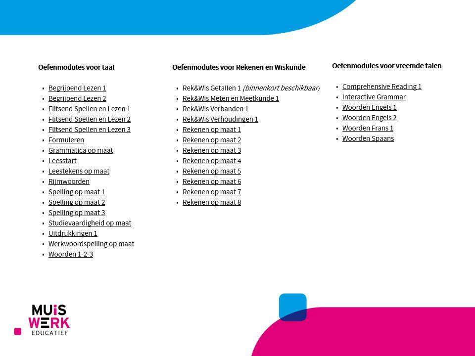Klik op de modules om de handleiding te bekijken