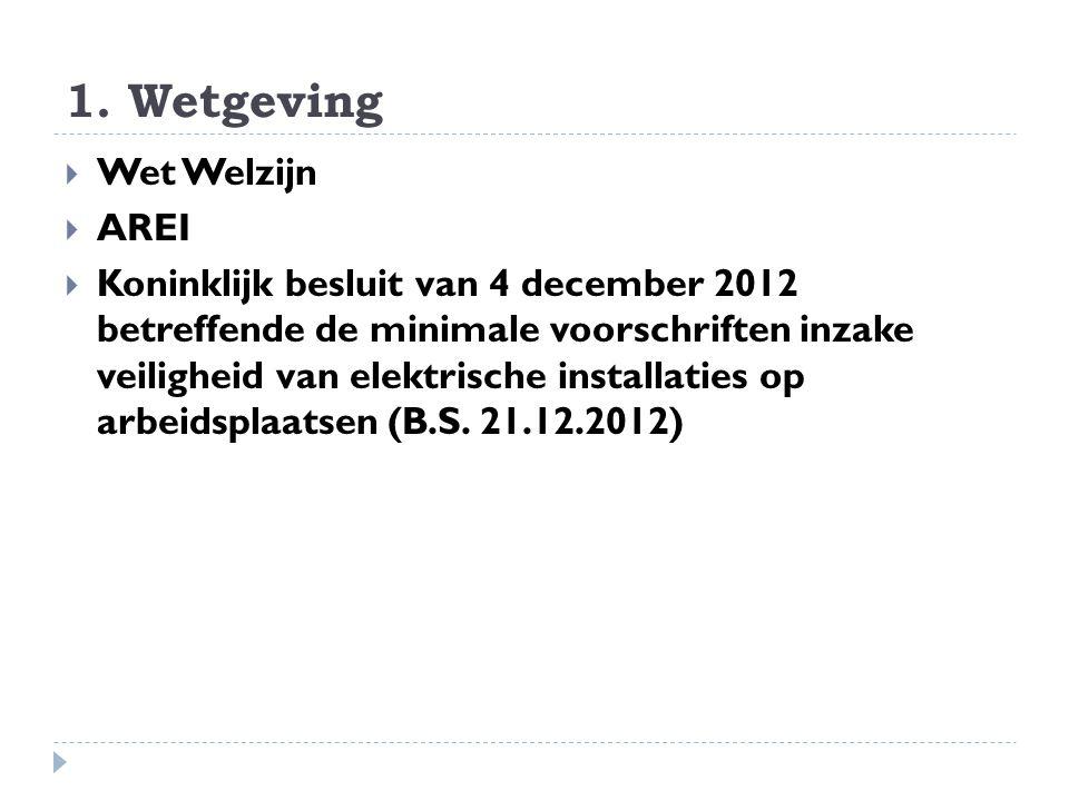 1. Wetgeving Wet Welzijn AREI