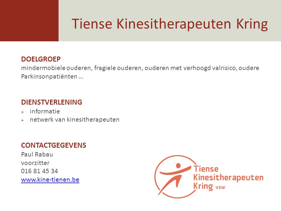 Tiense Kinesitherapeuten Kring