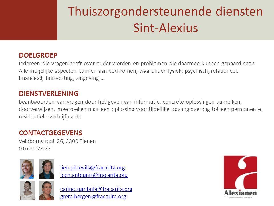 Thuiszorgondersteunende diensten Sint-Alexius