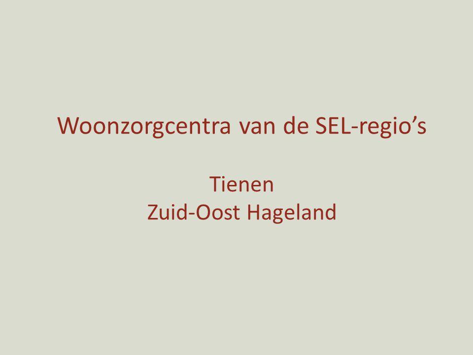 Woonzorgcentra van de SEL-regio's