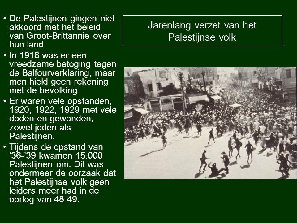 Jarenlang verzet van het Palestijnse volk