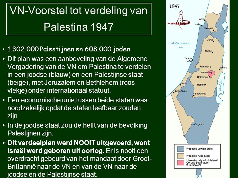 VN-Voorstel tot verdeling van Palestina 1947