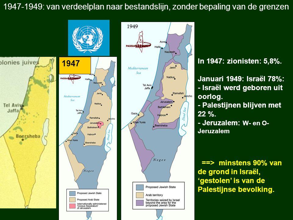 1947-1949: van verdeelplan naar bestandslijn, zonder bepaling van de grenzen