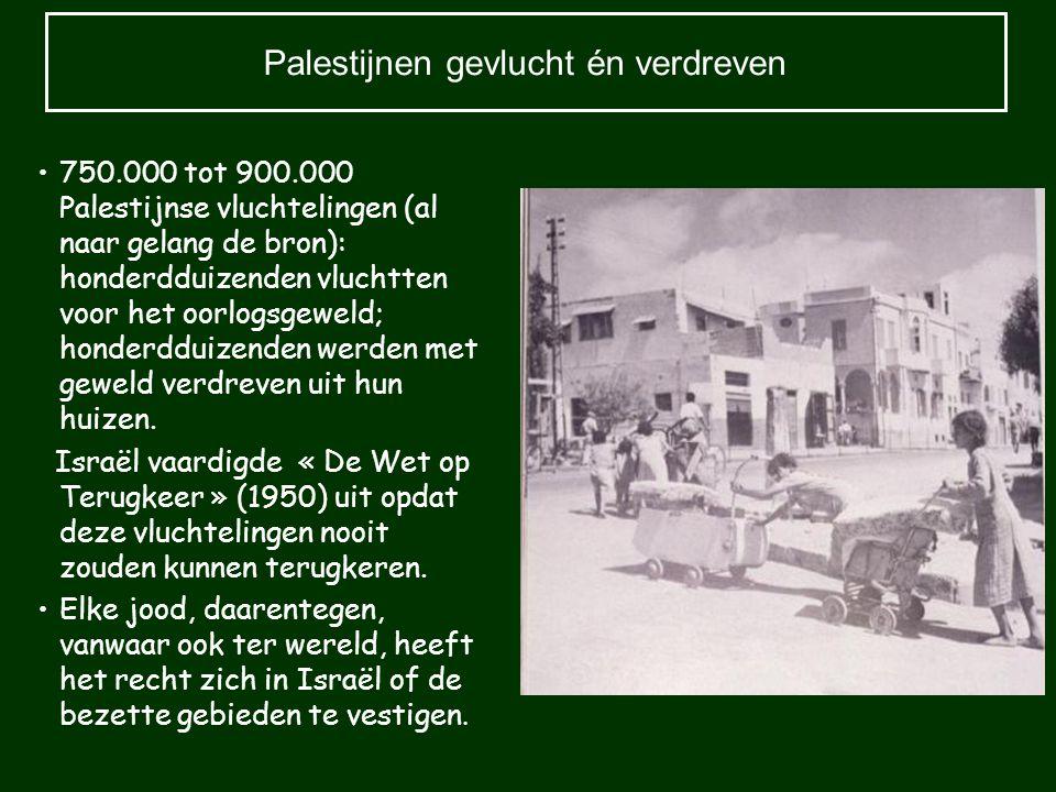 Palestijnen gevlucht én verdreven