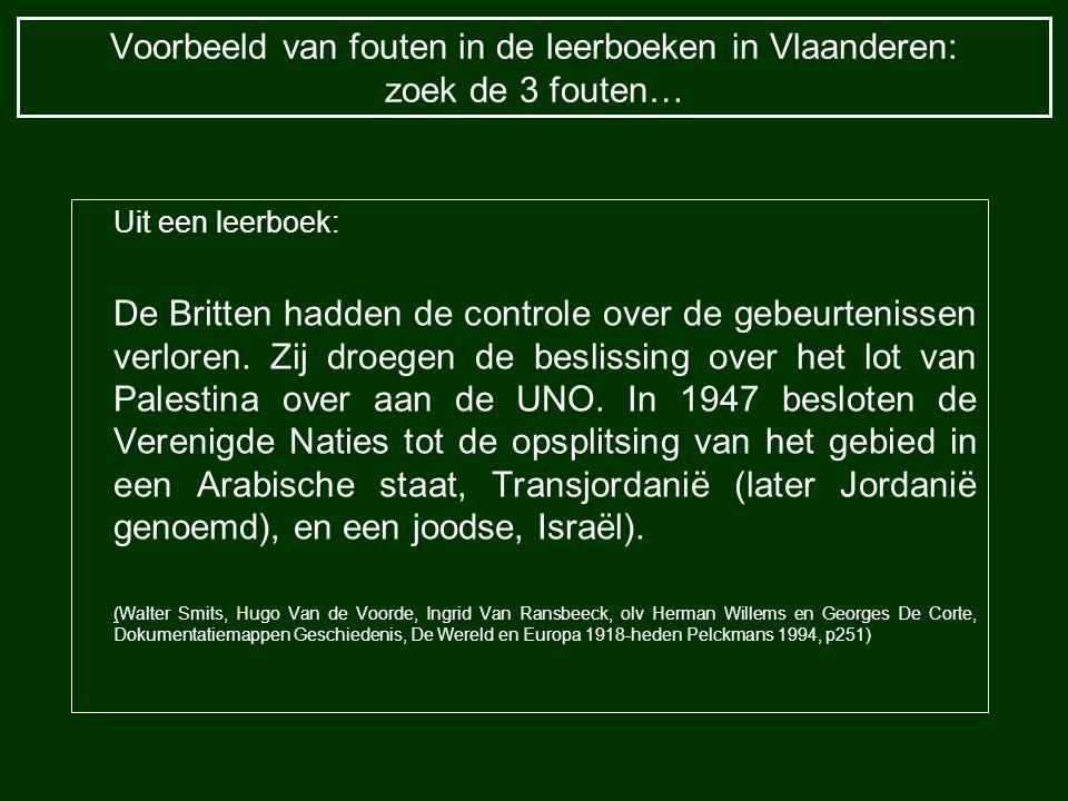 Voorbeeld van fouten in de leerboeken in Vlaanderen: zoek de 3 fouten…