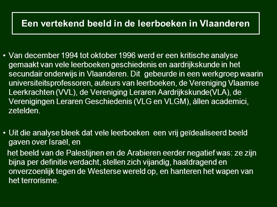 Een vertekend beeld in de leerboeken in Vlaanderen