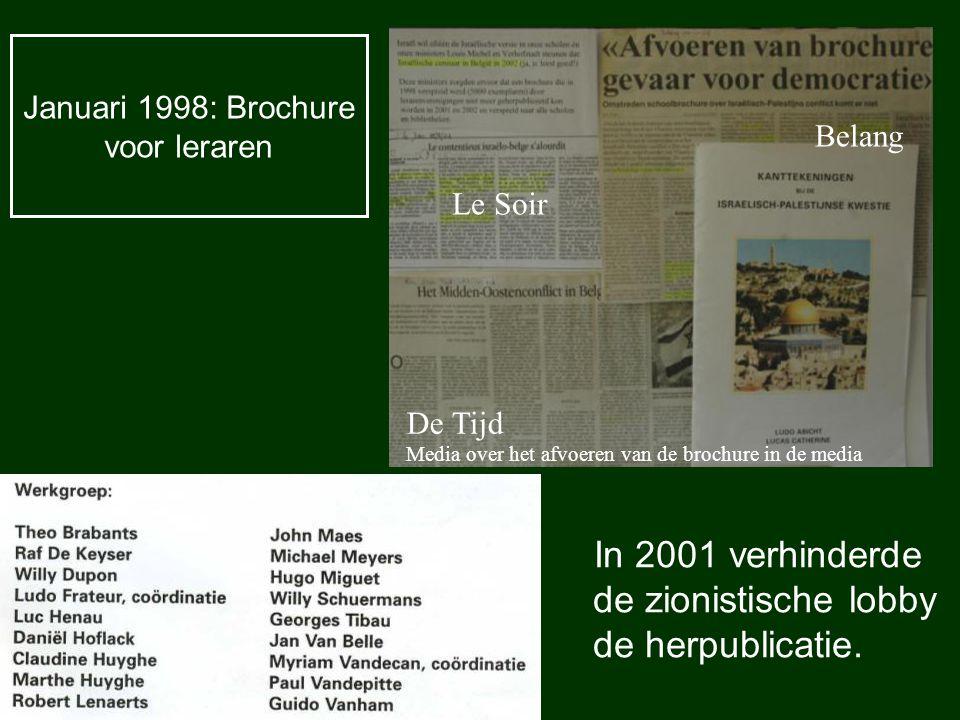 Januari 1998: Brochure voor leraren