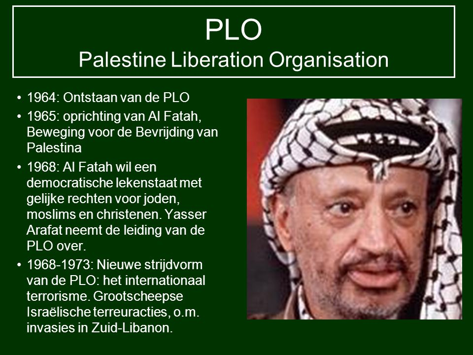 PLO Palestine Liberation Organisation
