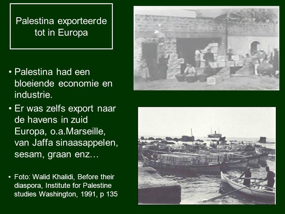 Palestina exporteerde tot in Europa