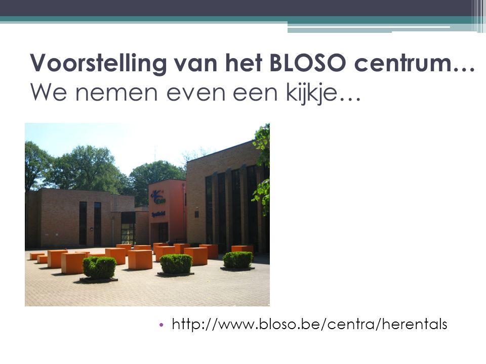 Voorstelling van het BLOSO centrum… We nemen even een kijkje…