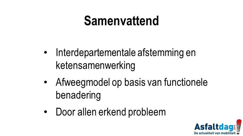 Samenvattend Interdepartementale afstemming en ketensamenwerking