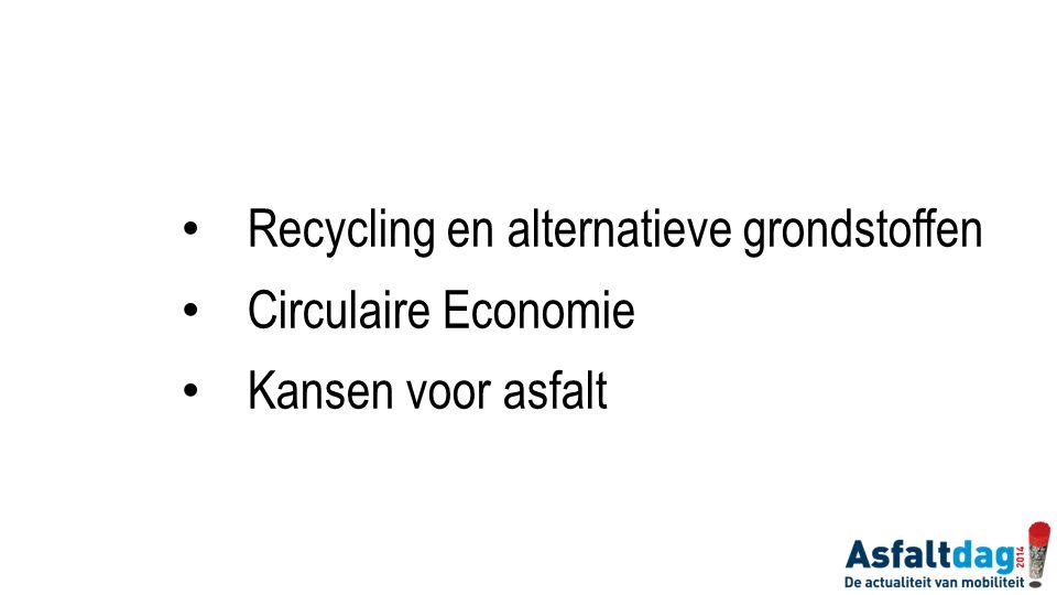 Recycling en alternatieve grondstoffen