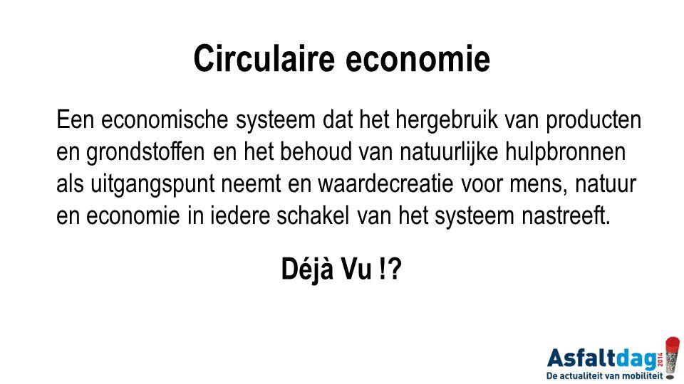 Circulaire economie Déjà Vu !