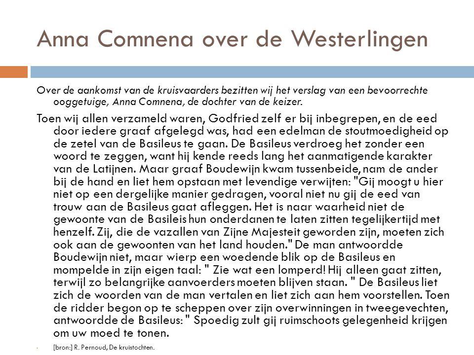 Anna Comnena over de Westerlingen