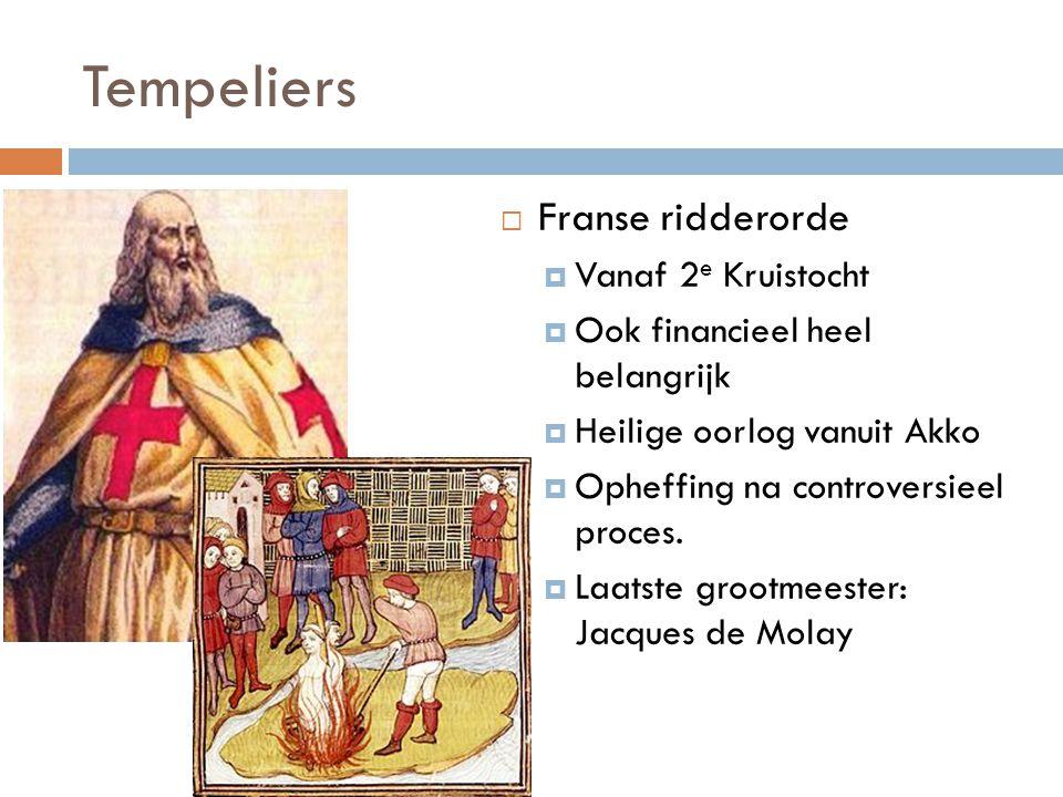 Tempeliers Franse ridderorde Vanaf 2e Kruistocht