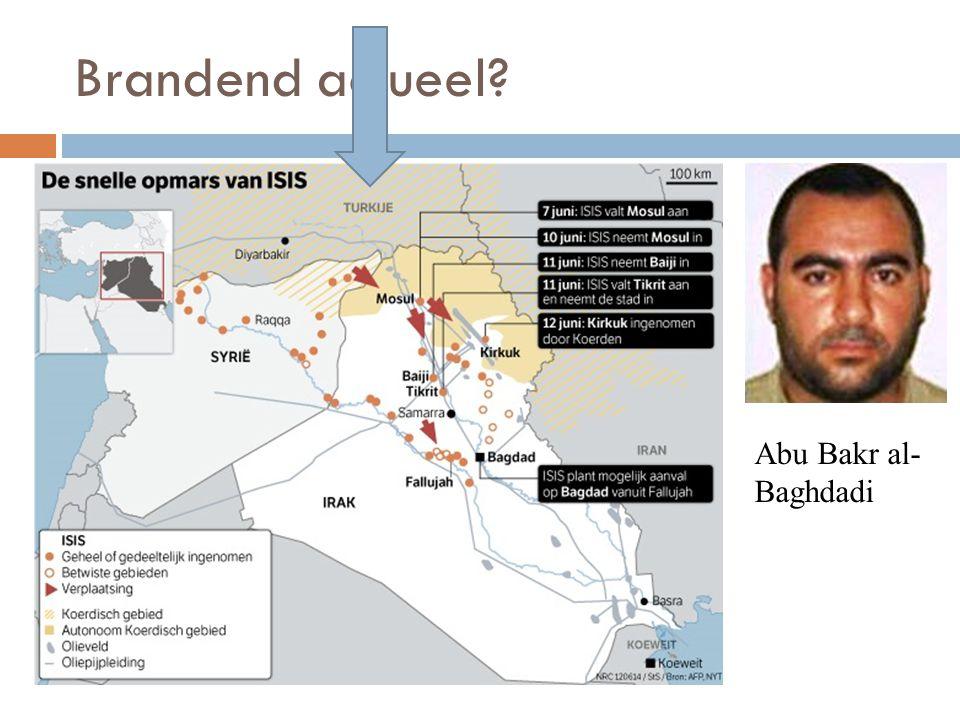 Brandend actueel Abu Bakr al-Baghdadi