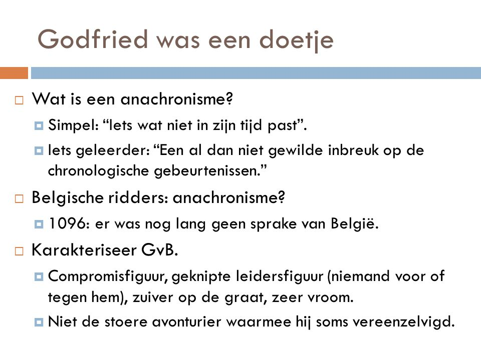 Godfried was een doetje