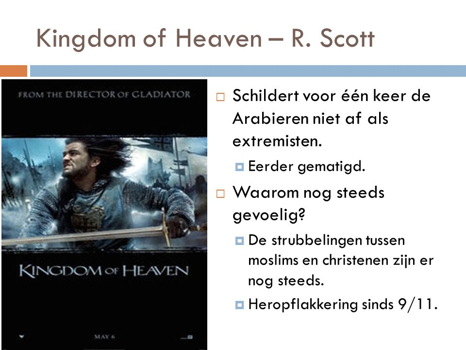 Kingdom of Heaven – R. Scott