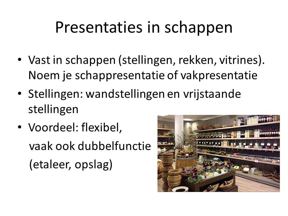 Presentaties in schappen