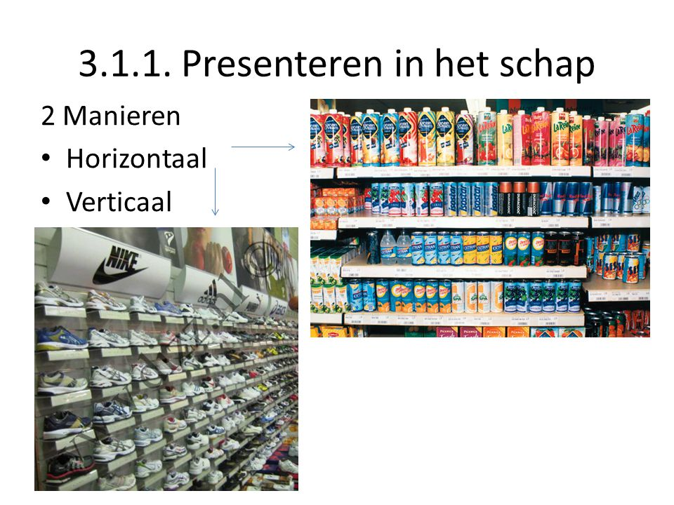 3.1.1. Presenteren in het schap
