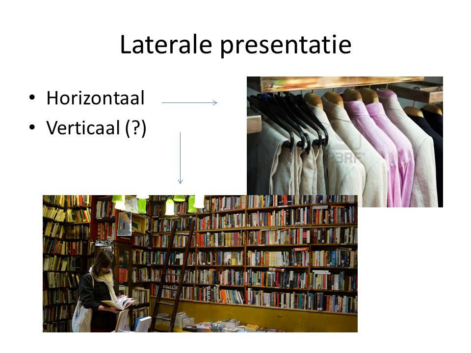 Laterale presentatie Horizontaal Verticaal ( )